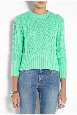 Ace Jade Crop Cable knit